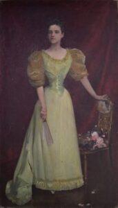 """DORA DALLES, pictură semnată de G. D. Mirea, fotografie transmisă de Muzeul Județean de Artă Prahova """"Ion Ionescu Quintus"""""""